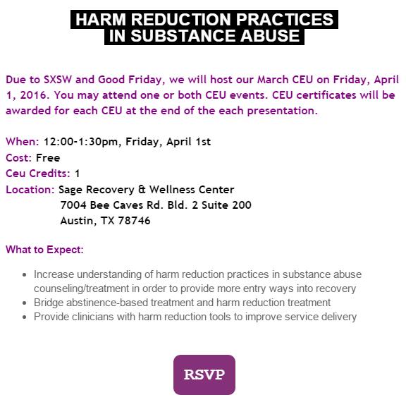 Harm Reduction Insurance Trends 2 Ceus April 1st Sage